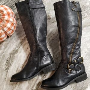 Steve Madden | Leather Synicle Tall Riding Boots 6